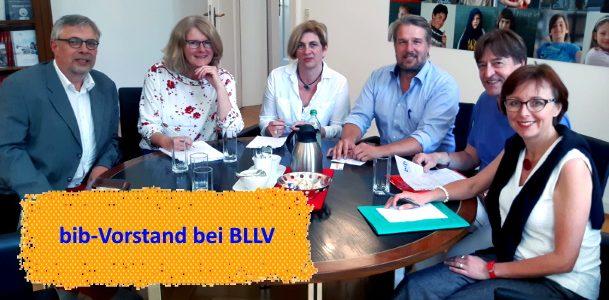 Sichtbar werden: bib-Vorstand bei BLLV