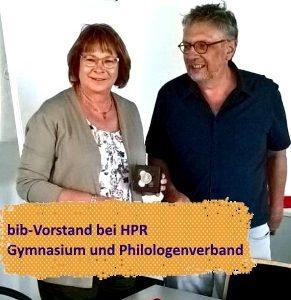 Sichtbar werden: bib-Vorstand bei HPR Gymnasium und bpv
