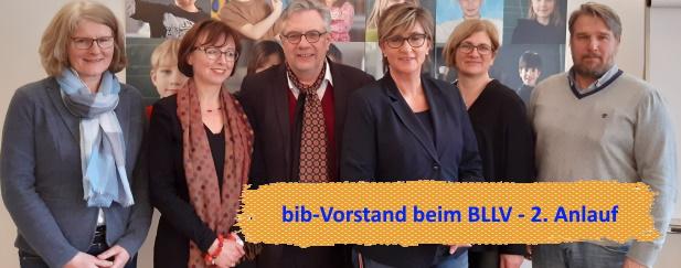 Sichtbar bleiben: bib-Vorstand beim BLLV